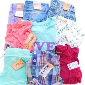Mudd Girl Size 12 Summer Lot Tops Shorts Dress NWT
